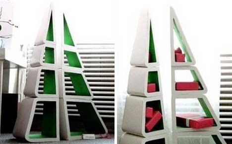 25 more unique book shelving storage solutions urbanist - Bookshelf shaped like a tree ...