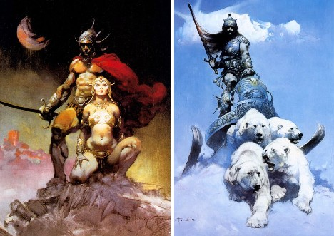 frank frazetta retro fantasy art bridges past future urbanist