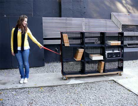 You Can Take It With You - 25 (More!) Unique Book Shelving & Storage Solutions Urbanist