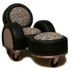 Used tires recycled tire rubber furniture art design for Tyre furniture