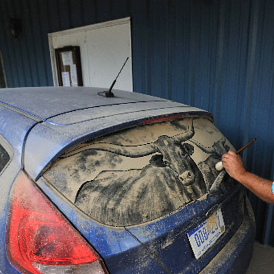 How To Clean Windshield >> Dirty Car Drawings: Turn the Dusty Road Into Good Clean ...