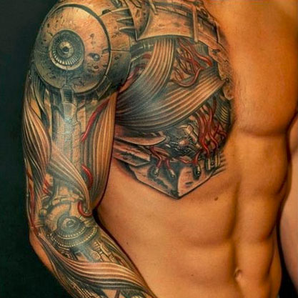 Robot Tattoos: Awesome Works of Mechanical Body Art | Urbanist