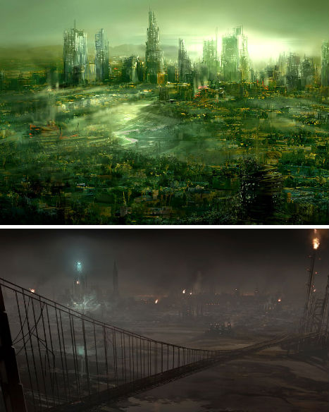 futuristic destroyed city - Google Search | Mass effect ... |Future Destroyed City