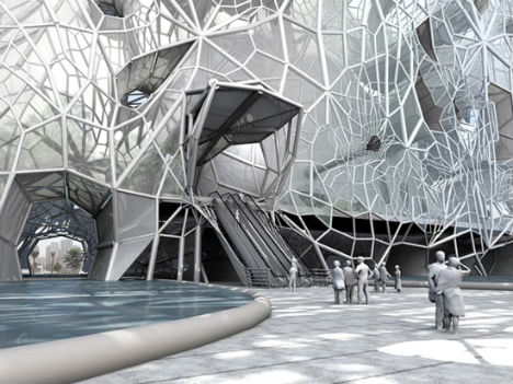 GEOtube Building Grows its Own Lace Like Sea Salt Skin