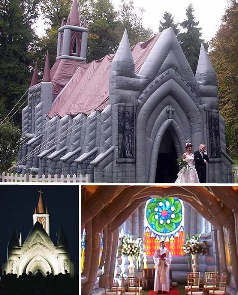 Blow-Up Church & Airy Architecture: 14 Inflatable Pubs Churches u0026 More | Urbanist