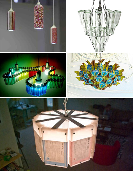 Bright ideas 41 bold beautiful bizarre recycled lamps urbanist from garbage to gorgeous mozeypictures Image collections