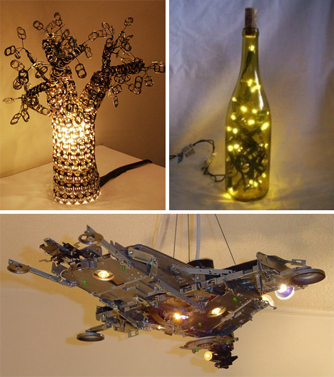 Bright Ideas: 41 Bold, Beautiful + Bizarre Recycled Lamps | Urbanist