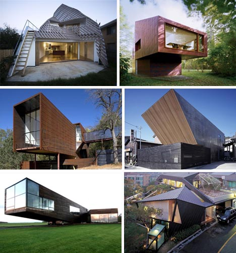 Angular masterpieces 10 home designs defined by angles for Right angle house