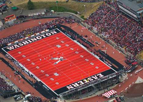 Why can't football be played on an east-west field? What field should it be played on?