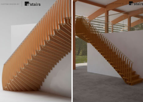 Curving Bamboo Staircase By Eedesign