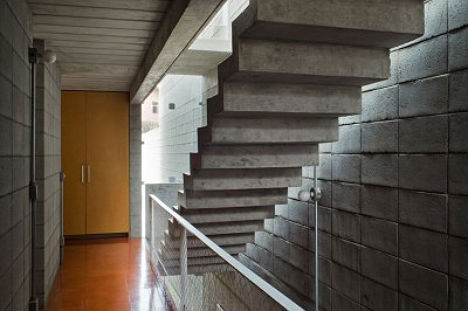 Hefty Concrete Hanging Stairs