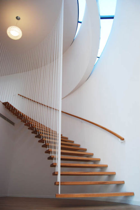 Suspended Staircases: 18 Hanging Stair & Tread Sets   Urbanist