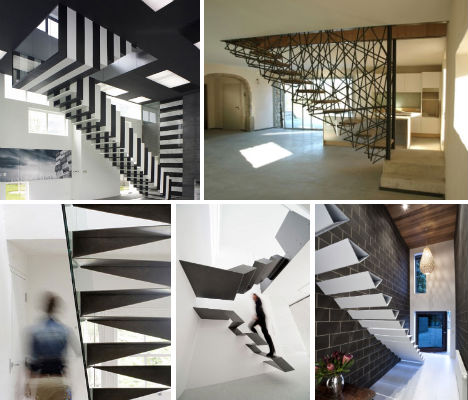 Suspended Staircases 18 Hanging Stair Amp Tread Sets Urbanist