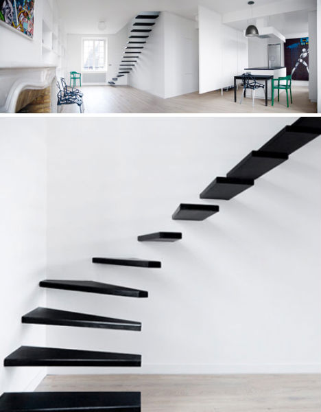 Minimalist Black Stairs By Ecole