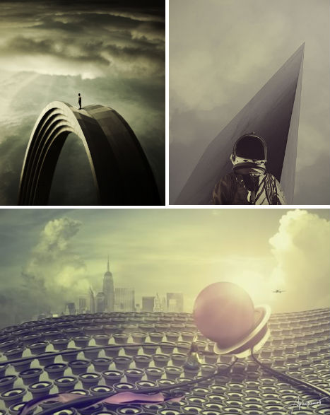 Surreal Fictional Urban Landscapes by Eugene Soloviev