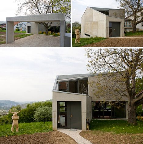 Open Concrete Box House