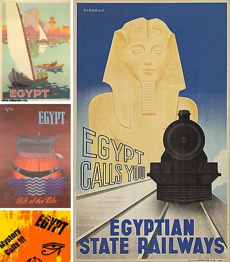 In De Nile Revisiting Vintage Egypt Travel Posters