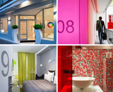 12 fun funky france hotels from paris to bordeaux for Color design hotel paris