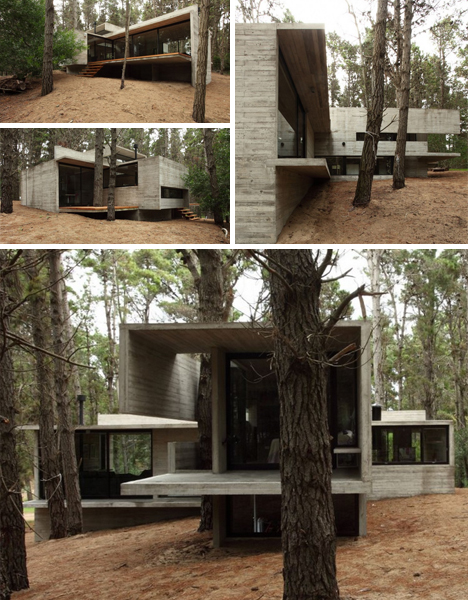 Open house s 10 wonderful open plan home designs urbanist for Concrete exterior walls