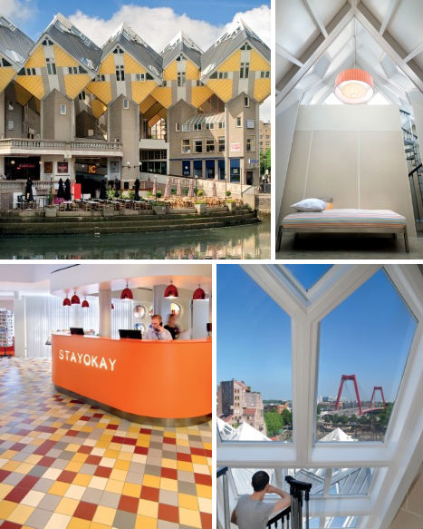 Punk to posh 14 quirky artsy elegant netherlands for Hotel amsterdam cube