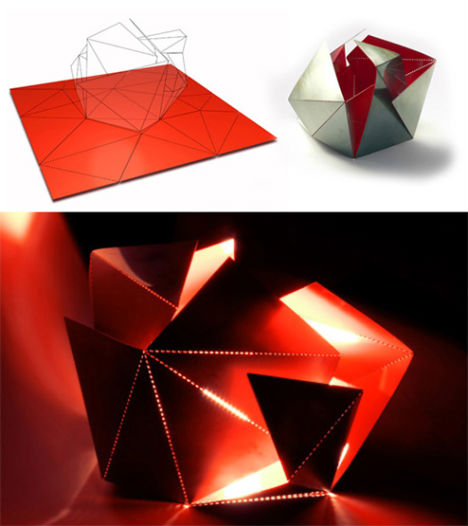 Origami-Style Folding Chairs | Designs & Ideas on Dornob | 526x468