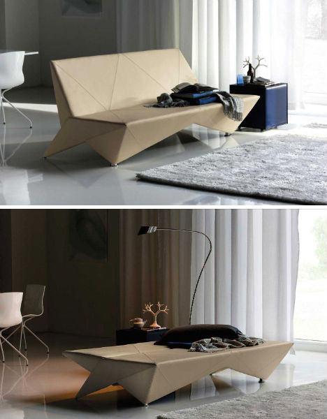 Unfolding Interior Design Origami Inspired Furniture