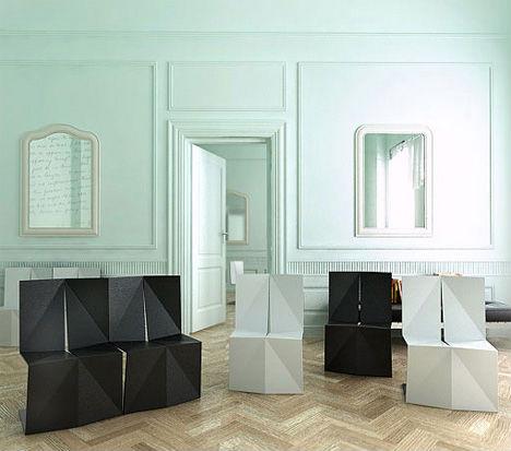 Unfolding Interior Design Origami Inspired Furniture