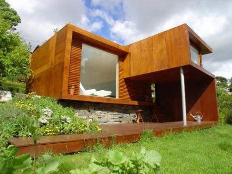 small modular modern home Jayne Mansfield movie poster