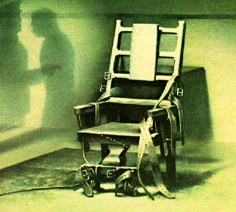electric chair drawing. (image electric chair drawing