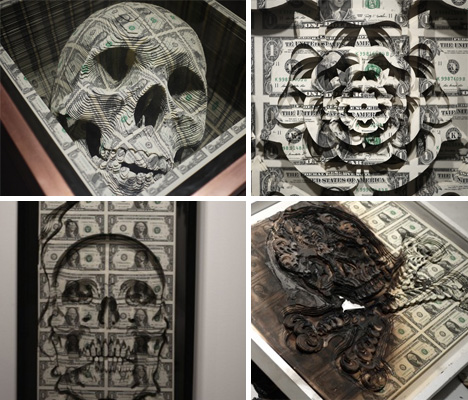 Scratch Art: U.S. Dollars Sculpted Into Incredible Works