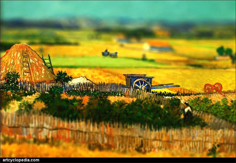 New View of Vincent: Tilt Shift Perspective on Masterpieces