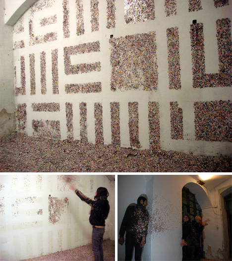 Confetti + Walls + Tape = Sticky Spray-Paint Alternative | Urbanist