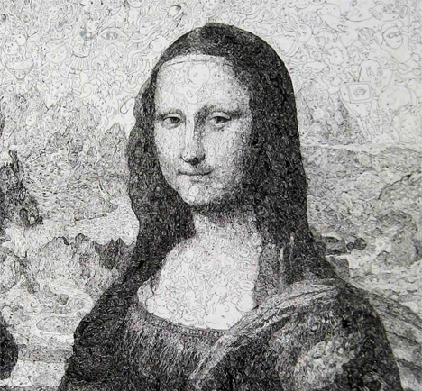 Most artists would not dare attempt to recreate timeless works of art such as the mona lisa sagaki keita however is not most artists
