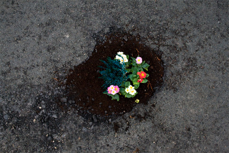 Colorful Calls To Action Decorated Pothole Projects Urbanist