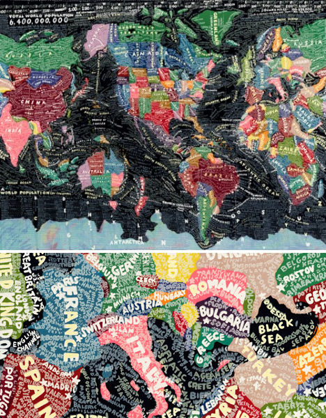Creative cartography 15 artists transforming maps urbanist the world by paula scher gumiabroncs Choice Image