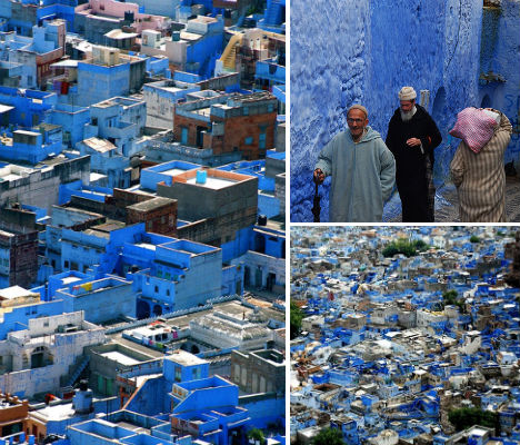 All Azure The Monochromatic City Of Chefchaoen Morocco