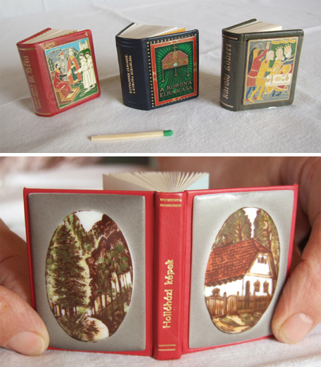 4500 Miniature Books Form Huge but Tiny Collection