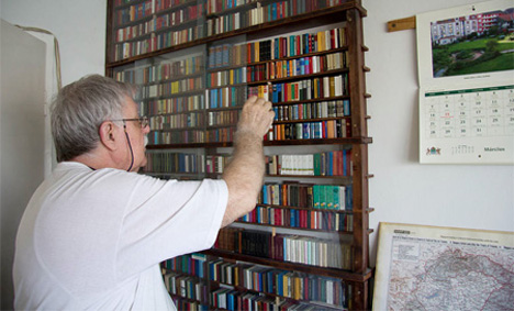 Hungarian Collector Jozsef Tari Has Been Collecting Miniature Books And Newspapers Since 1972 He Even Published A Few Mini Of His Own