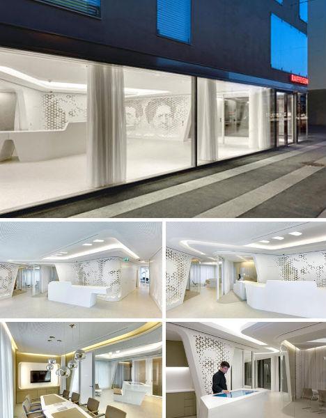 Modern Bank Design. Raiffeisen Bank, Zurich, Switzerland