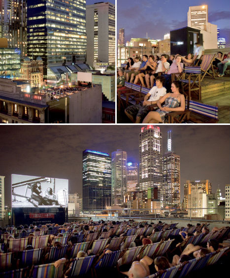 Visiting rooftop bars in Melbourne. The Rooftop Guide visited a couple of cool rooftop bars in Melbourne in January on a rooftop trip. Read full post. Rooftop cinema in Melbourne. Check out the best rooftops for a rooftop cinema in Melbourne here. Links and pictures. Read full post. City info. About Melbourne.