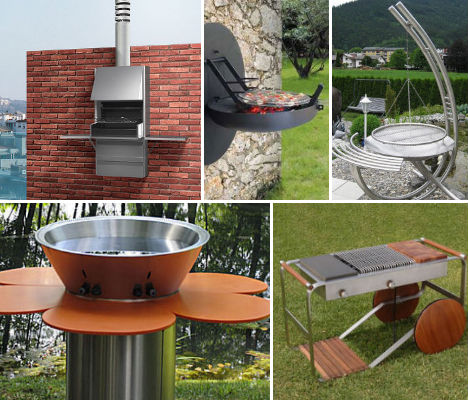 Barbeque bonanza 15 great outdoor grill designs urbanist for Outside barbecue area design