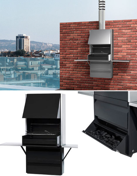 Image Via Rocal This Is Not Just A Stunning Wall Mounted Barbecue Grill