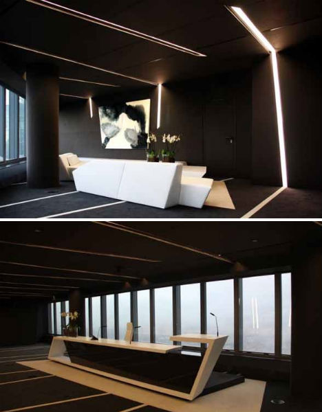 Dark Dramatic Design 16 Bold Black Room Interiors Urbanist - A-cero-architects-the-interior-of-an-office-in-madrid