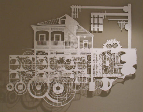 Paper Art Landscapes: Lace-Like 2D Wall Architecture | Urbanist