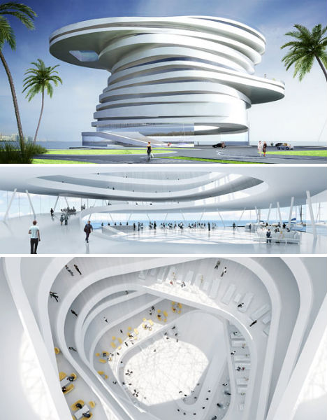 Futuristic fantasy hotels 14 wild concept designs ideas for Hotel concepts