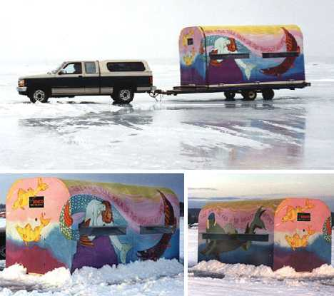 Reel Cold Comfort: 10 Creative Ice Hut Designs ... Ice Fish House Plans Free on ice house on wheels plans, ice house design plans, ski house plans, homemade ice house plans, ice house frames, ice house ideas, shack ice fishing house plans, ice house construction plans, portable ice house plans, bluebird house plans,