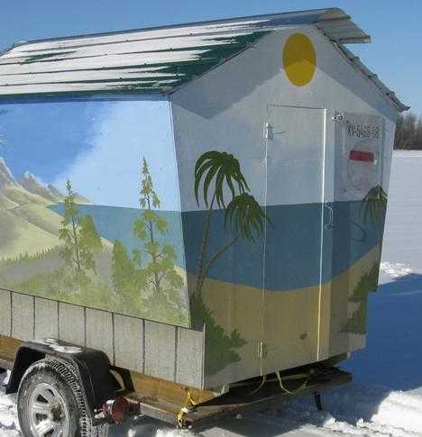 Reel Cold Comfort: 10 Creative Ice Fishing Hut Designs