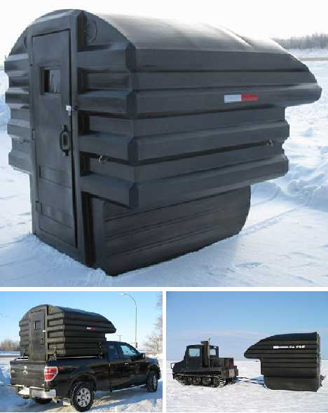 Reel Cold Comfort 10 Creative Ice Fishing Hut Designs