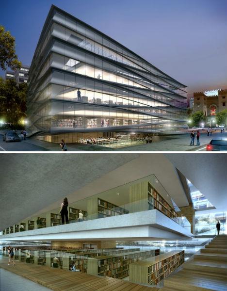 Reading revolution 14 marvelous modern urban libraries for Modern library building design