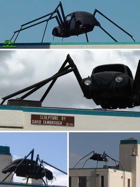 Spider Bug 15 Spooky Vw Beetle Car Art Sculptures Urbanist